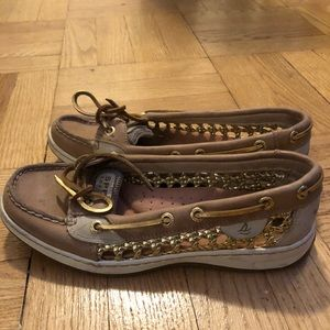 Gold Sperry's barely worn